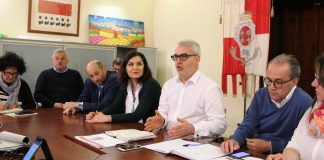 La conferenza stampa di presentazione del progetto di pedonalizzazione di piazza della Libertà