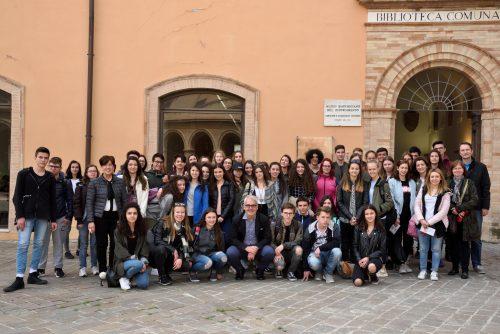 Europa e scambi culturali, studenti di Weiden a Macerata