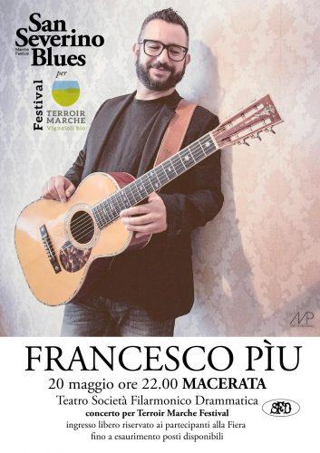 San Severino Blues, anteprima a Macerata con Francesco Più