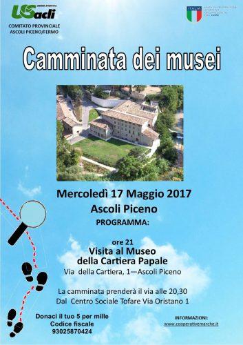 """Al via il 17 maggio, per il terzo anno, il progetto """"Camminate dei musei"""""""