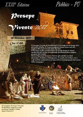 XXIII edizione del Presepe Vivente a Piobbico il 26 dicembre