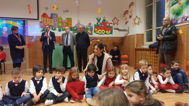 San Benedetto, recita di Natale ieri all'asilo Merlini