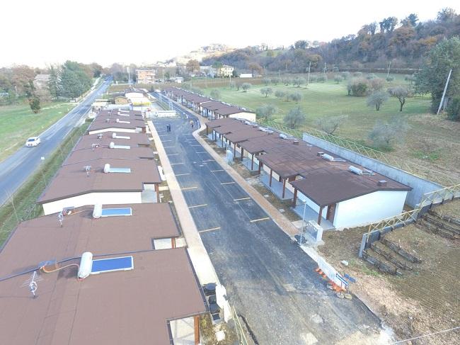 San Severino Marche strutture abitative in emergenza