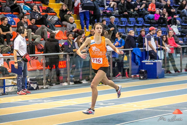 Emma Silvestri sigla la migliore prestazione nazionale allieve 2018 nei 400 indoor