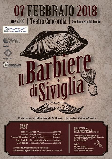 """""""Il barbiere di Siviglia"""" al Teatro Concordia di San Benedetto"""