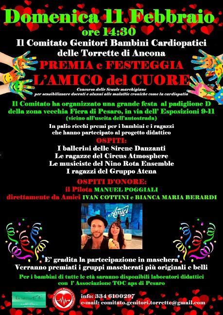 Pesaro, L'amico del cuore: premiazioni e festa l'11 febbraio