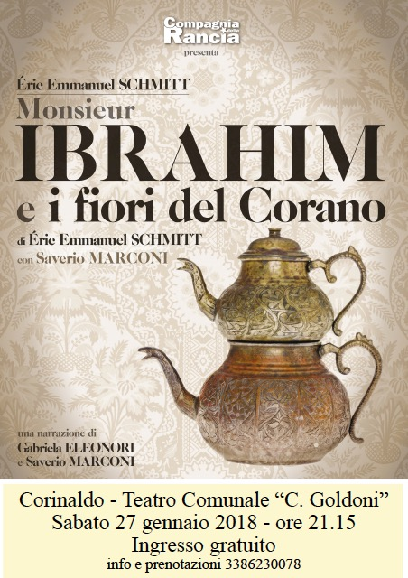 """""""Monsiuer Ibrahim e i fiori del Corano"""", questa sera a Corinaldo"""