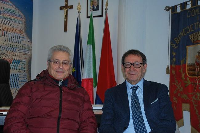 San Benedetto: incontro tra il sindaco e il luogotenente Cameli