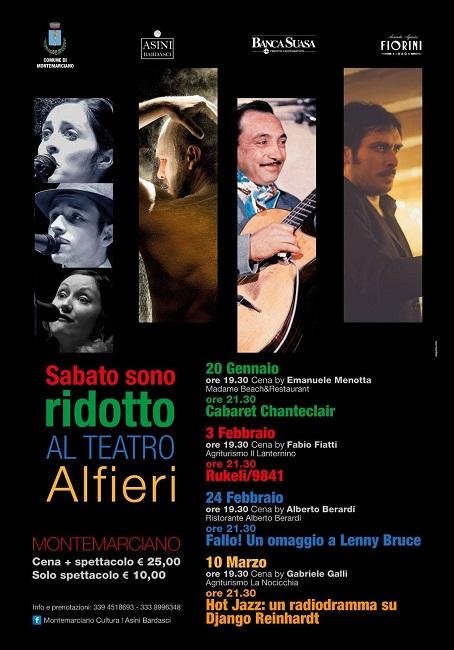 """Sabato sono ridotto al Teatro Alfieri"" a Montemarciano"