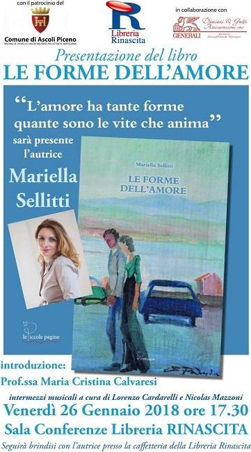 """""""Le forme dell'amore"""", Mariella Selliti alla Libreria Rinascita"""