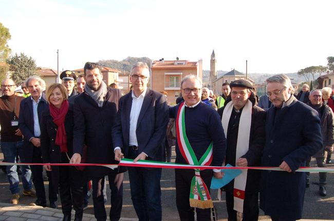 Macerata, Passo Treia: inaugurata la nuova area Sae