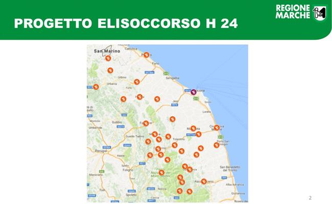 Marche, progetto Elisoccorso H24: in arrivo 7 nuove basi