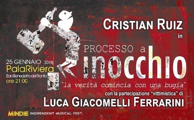 Processo a Pinocchio il 25 gennaio teatro a San Benedetto