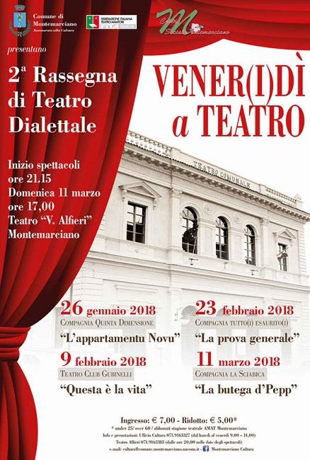 Torna il teatro dialettale a Montemarciano: il programma