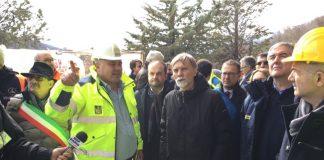 visita Delrio ai cantieri sisma