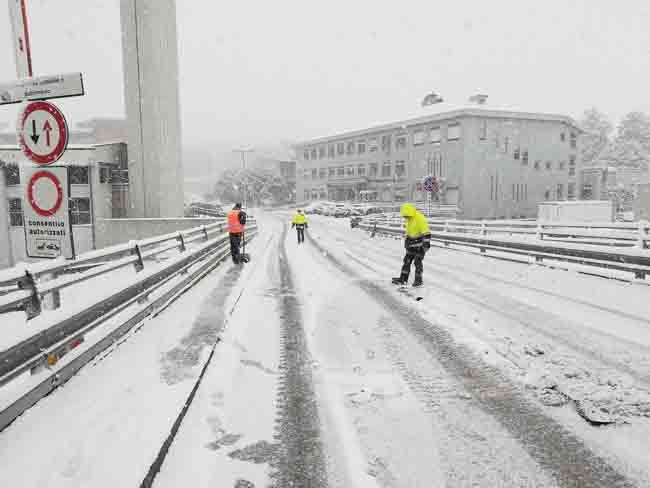 Ancona ospedale neve