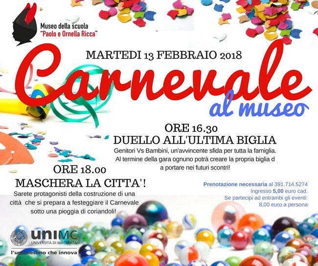 Università di Macerata, Carnevale 2018 al Museo della Scuola