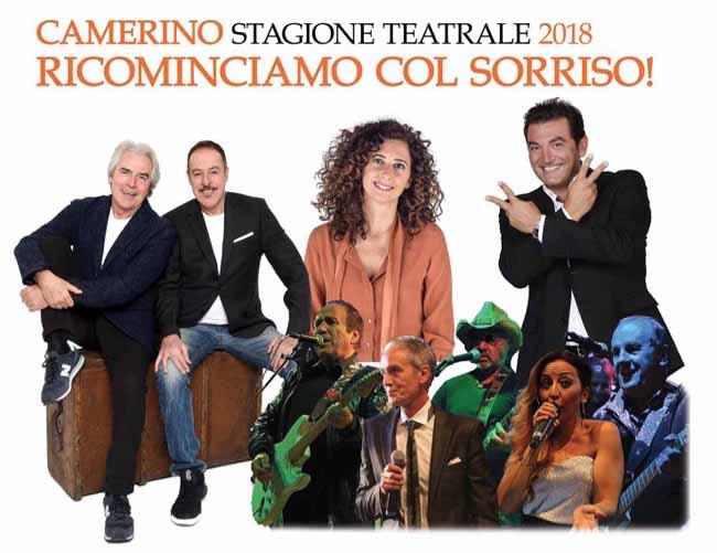 Cartellone teatrale 2018 di Camerino, ricominciamo con sorriso