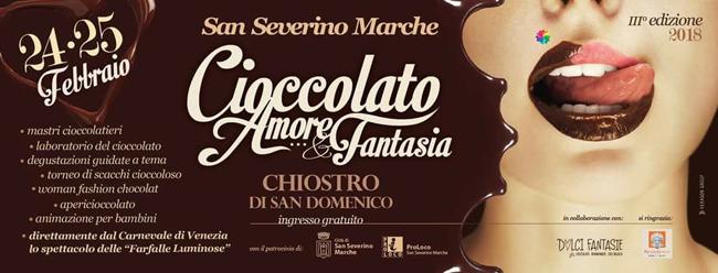 Cioccolato, Amore & Fantasia 2018 a San Severino