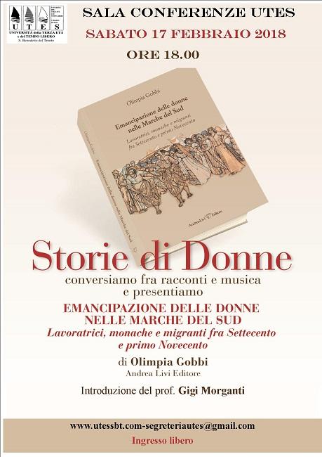 """San Benedetto, """"Storie di donne"""": il 17 febbraio la presentazione"""