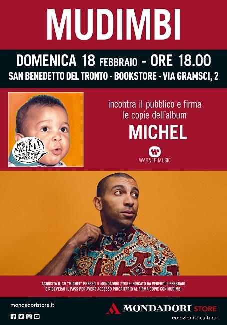 Mudimbi incontra i fans il 18 febbraio a San Benedetto