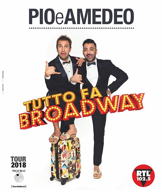 """Pio e Amedeo """"Tutto fa Broadway"""", il 14 aprile a Senigallia"""