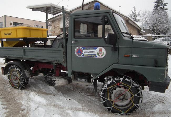 San Severino Marche, maltempo: scatta il piano neve