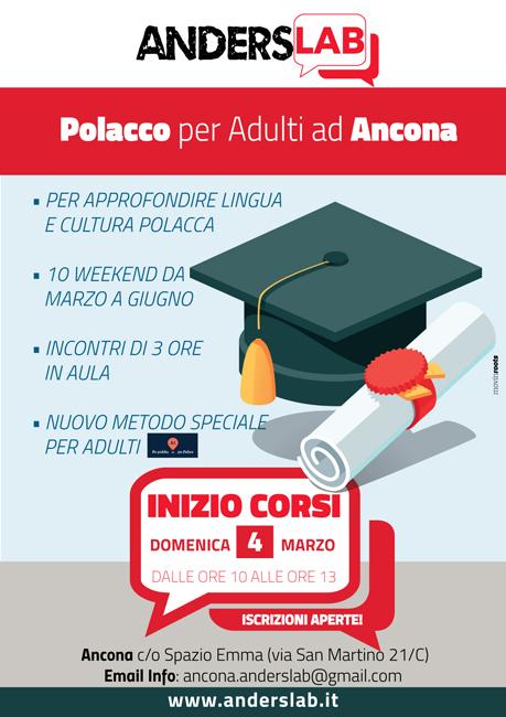 Ancona, al via dal 4 marzo un corso di Polacco per adulti
