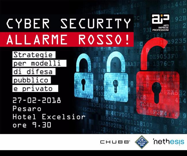"""Pesaro """"Cyber Security: allarme rosso!"""": oggi il primo evento informativo"""