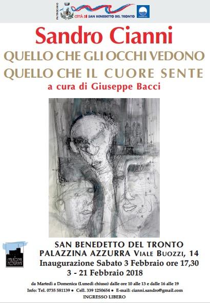 Mostra di Sandro Cianni dal 3 al 21 febbraio a San Benedetto