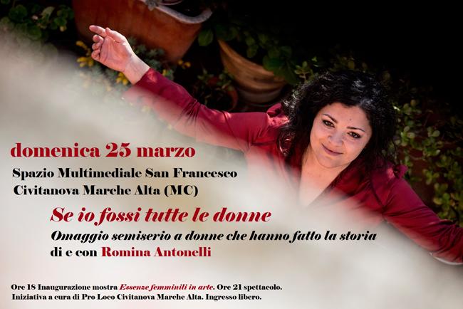 Se io fossi tutte le donne: il 25 marzo in scena a Civitanova Marche