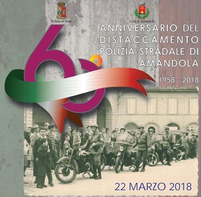 Amandola, 60° anniversario del Distaccamento della Polizia Stradale