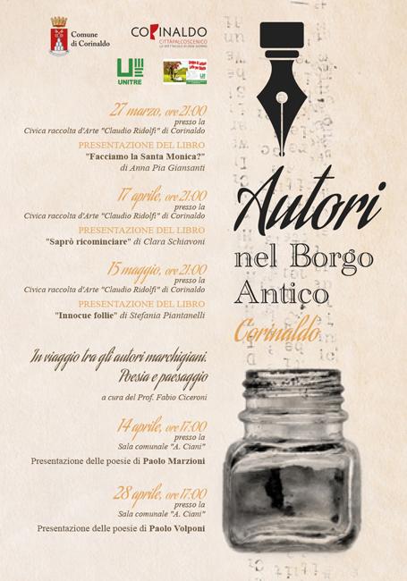 Autori nel Borgo Antico: eventi in programma a Corinaldo