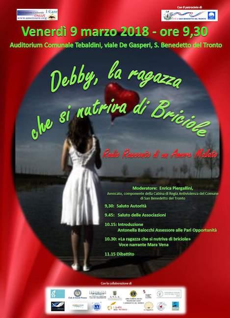 Debby la ragazza che si nutriva di briciole in scena a San Benedetto