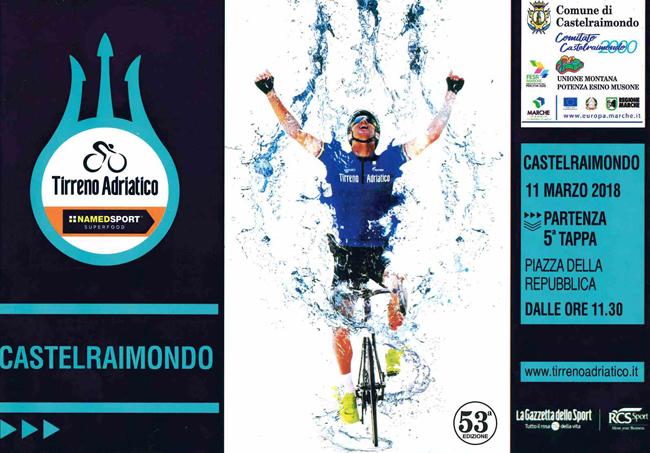 La Tirreno – Adriatico l'11 marzo fa tappa a Castelraimondo