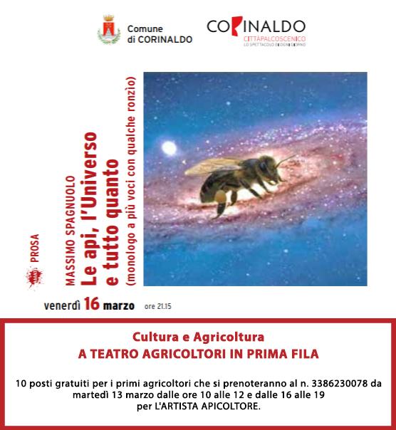 A teatro agricoltori in prima fila, il 16 marzo a Corinaldo
