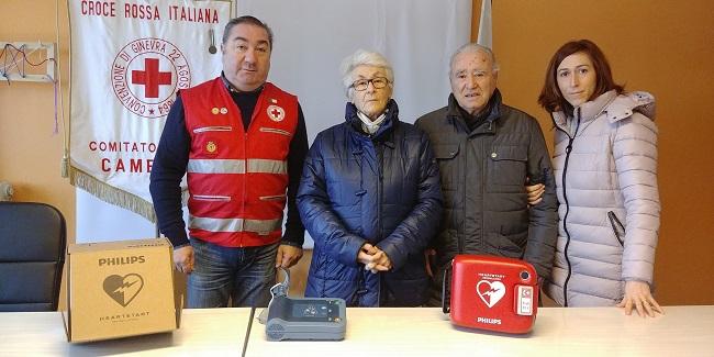 Camerino: donato un defibrillatore alla Cri