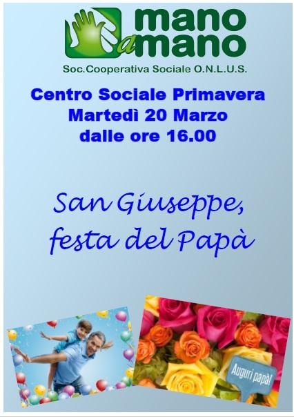 Festa del papà oggi al Centro Primavera di San Benedetto