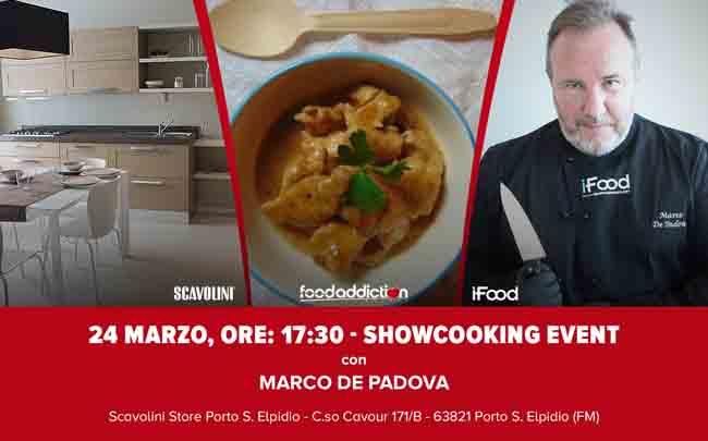 Show-cooking e degustazioni gratuite con Marco De Padova