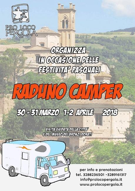 Pasqua a Pergola con il raduno camper 2018