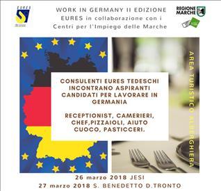 """Progetto """"Work in Germany"""": due incontri in programma"""