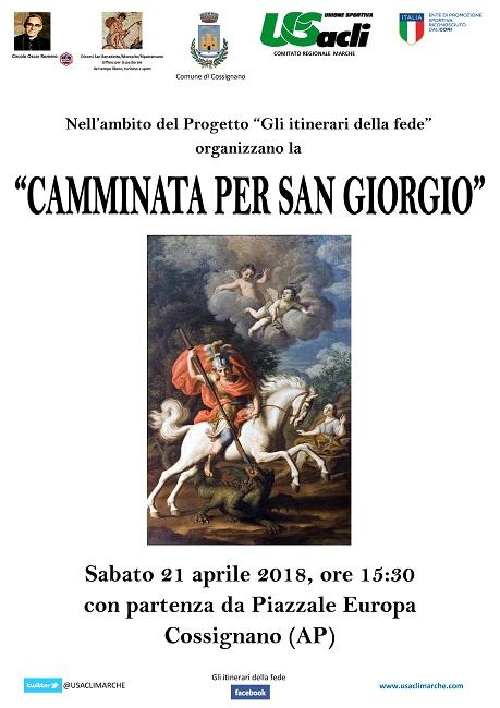 cammina San Giorgio Cossignano 21 aprile 2018