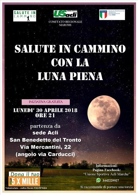 Salute in cammino luna Piena San Benedetto