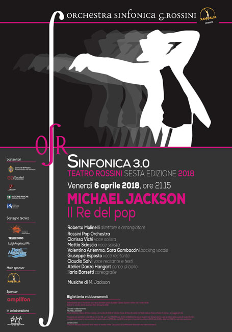 sinfonica Michael Jackson Pesaro 6 aprile 2018