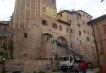 Camerino riapertura via Parisani Farnese Leopardi