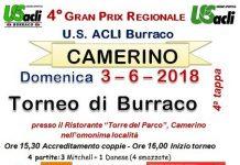 Camerino, burraco tappa Grax prix regionale 3 giugno