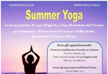 Progetto Summer Yoga lezioni gratuite San Benedetto