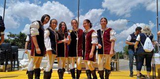 Campionato Sbandieratori e Musici in Puglia podio giovani Corinaldo