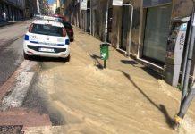Ancona, chiusa via Montebello rottura conduttura