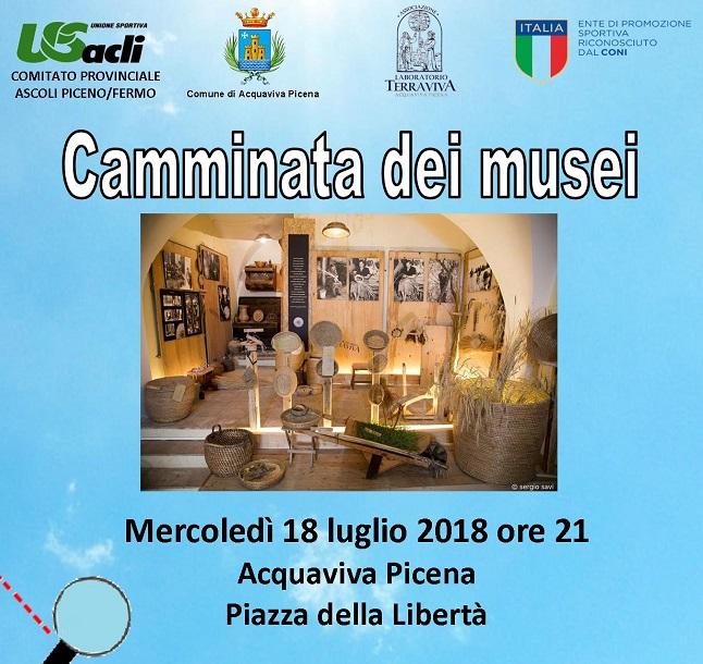 Acquaviva Picena nuova tappa di Camminata dei musei